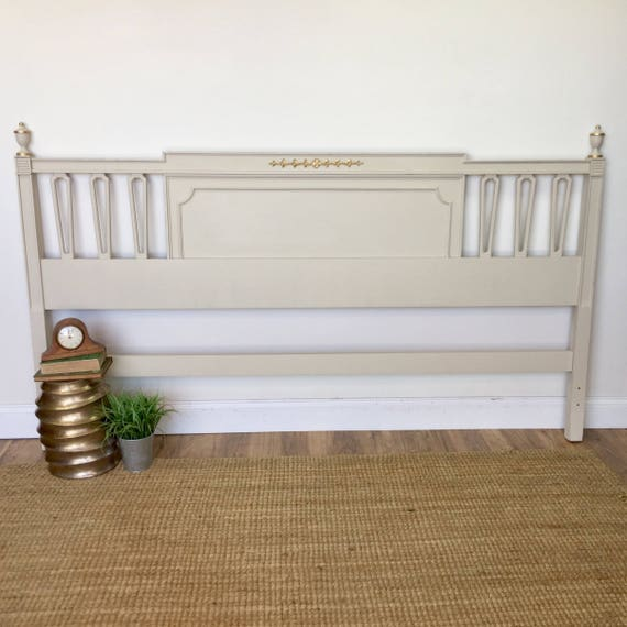 White Wooden King Size Headboard - Shabby Chic Furniture