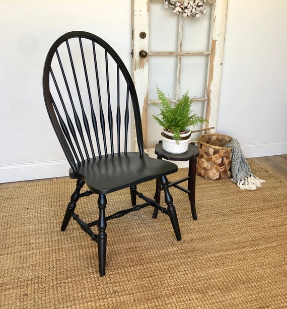 Black Windsor Chair - Farmhouse Furniture