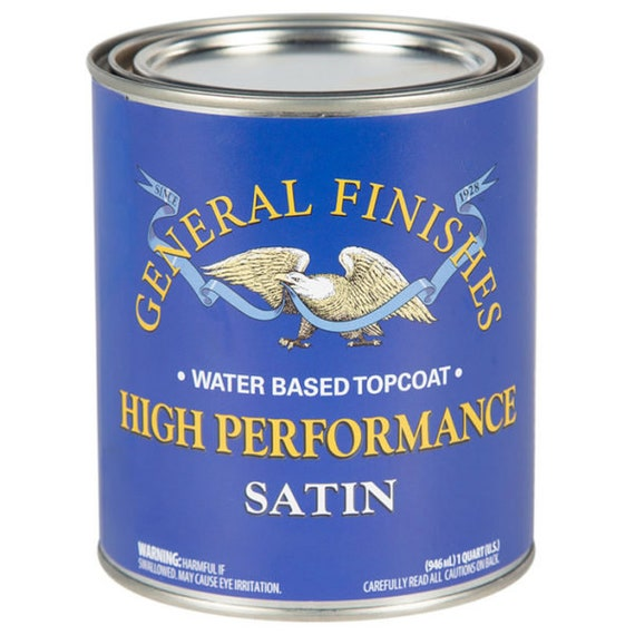 Water Based Polyurethane for Wood Restoration - General Finishes High Performance Top Coat for Painted Furniture