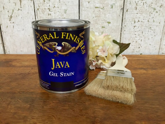 General Finishes Qt Java Gel Stain - Antique Walnut Stain - Best Wood Stain - Wood Refinishing Products