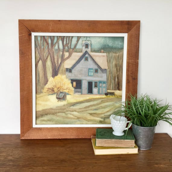 Rustic Farmhouse Painting on Canvas