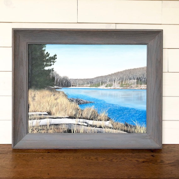Blue Wall Art Lake House Decor