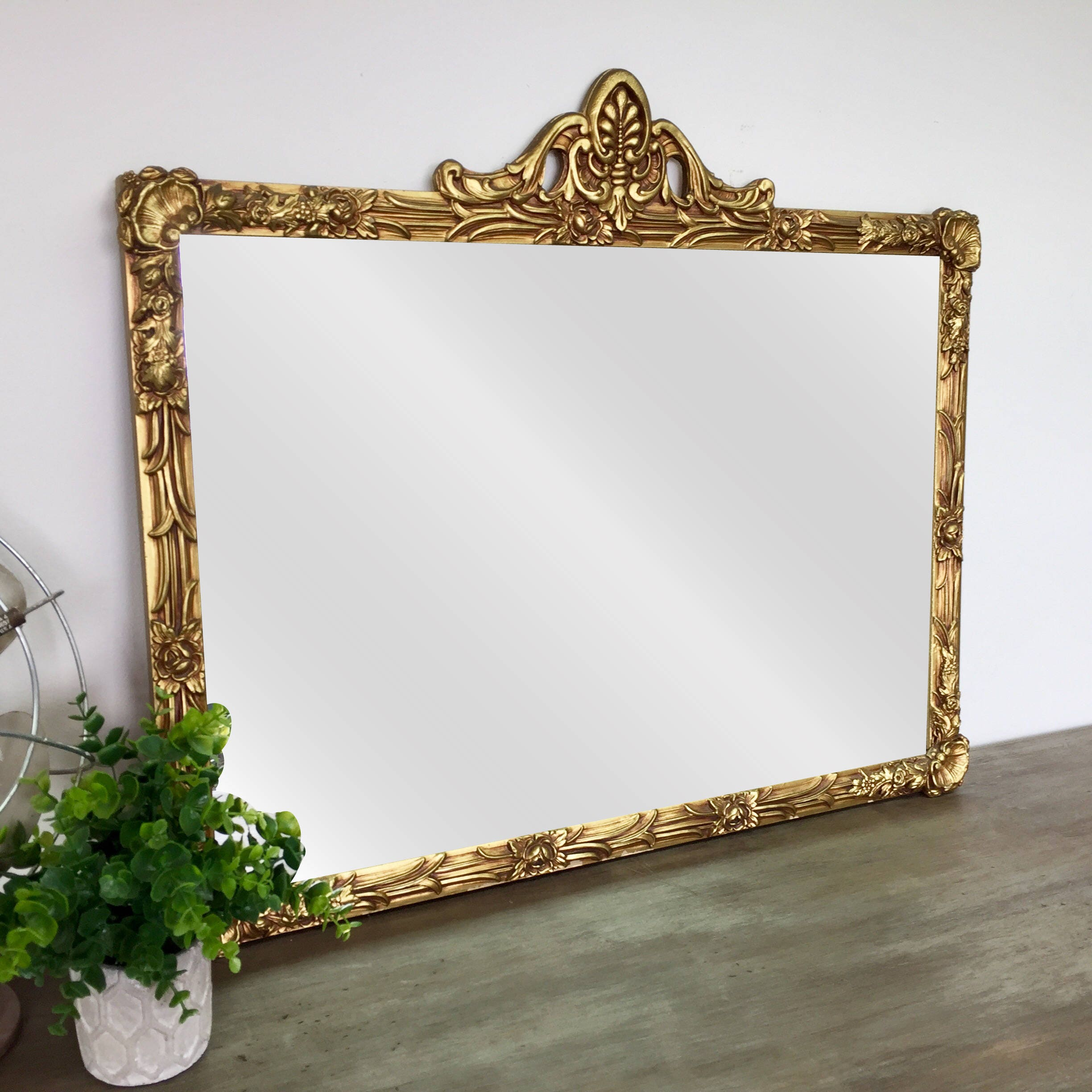 Gold Framed Mirror Antique Gold Mirror Mirror Wall Decor Ornate