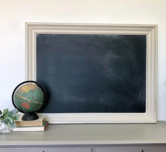 Large Wooden Framed Chalkboard - Dining Room Sign - Kitchen Chalkboard - Foyer Decor