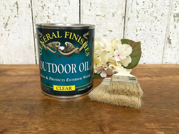 Linseed Oil Finish - General Finishes - Outdoor Wood Sealer - Wood Restoration - Exterior Wood Sealer - Best Penetrating Oil, Wood Protector