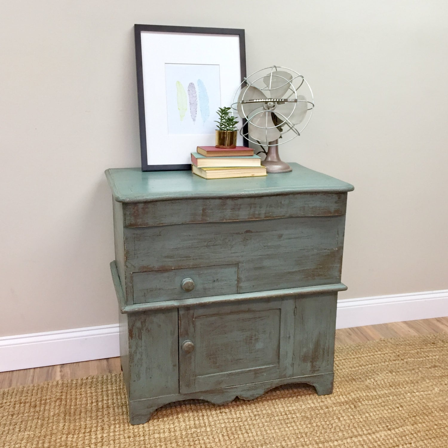 Antique Storage Cabinet - Primitive Cabinet - Bathroom Cupboard - Farmhouse  Nightstand - Side Table with Storage - Small Storage Cabinet - Antique Storage Cabinet - Primitive Cabinet - Bathroom Cupboard
