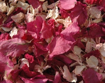 Biodegradable real petal  wedding confetti, stunning colours. 1 pint