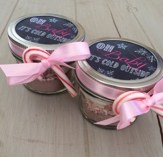 Baby Shower Favors Hot Chocolate hot chocolate baby shower wedding favor with chalk label | etsy