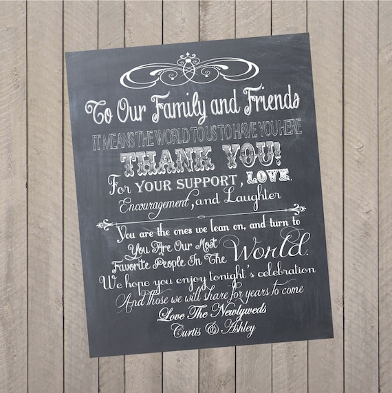 wedding thank you sign wedding program personalized etsy