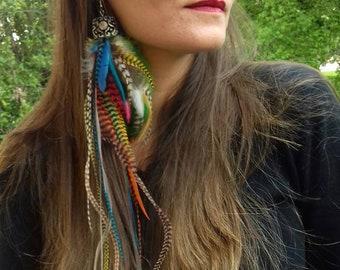 Earring long feathers