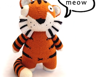 zOomiger the zombie tiger - Knitting Pattern PDF