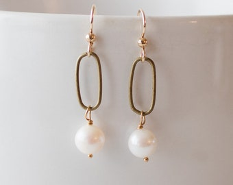 Updated pearl earrings - Not your mother's pearls - FREE shipping