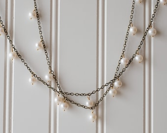 Pearl long necklace - FREE shipping