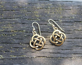 Celtic Knot Earrings with Gold-Filled Ear Wires