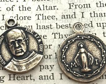 St. Maximillian Kolbe - BRONZE or SILVER - St. Maxmillian Kolbe - Patron of prisioners, drug addicts, journalists