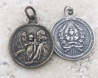 XC054 8 Nativity Charms Antique Silver Tone Beautiful Detail