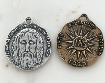 Face of Christ - Holy Face of Jesus Medal - Bronze - Shroud of Turin- Made in the USA