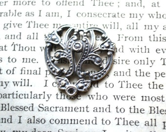 """Victorian Three-Way Connector - 3/4"""" - Sterling Silver  - Made in the USA (C-232)"""