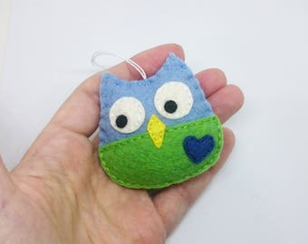 Cute felt owl ornament - handmande felt ornaments - Christmas/Housewarming home decor - Baby shower - READY TO SHIP