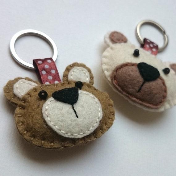 15d1363164f Felt bear keychain teddy bear felt accessories eco