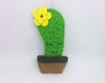Felt CACTUS ornament home decoration for kids room smiling Housewarming Baby shower gift for her for him gift idea nursery decor nature
