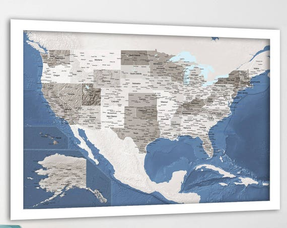 Large Detailed USA map, Map of United States, Relief Map USA, States of America, Push Pin Map of USA, Travel map for united states, Pin Map