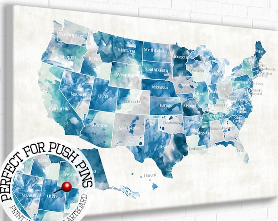 pushpin usa maps gifts happyplaceart