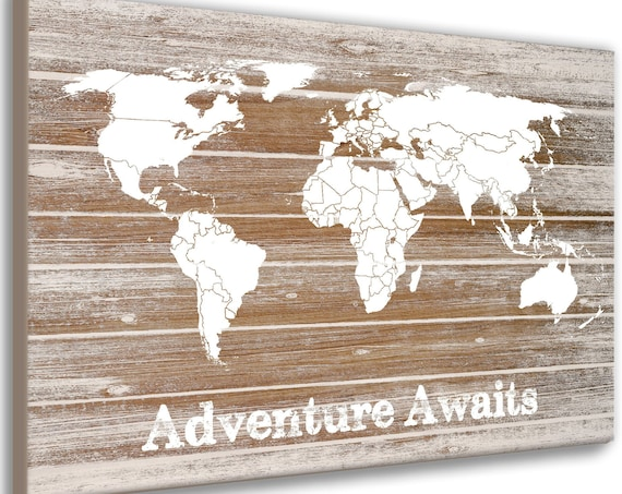 Customized Canvas World Map, Travel Map, Push Pin Travel Map, Digital Download, Foam Mounted World Map, Gift for traveller, Framed Pin Map,