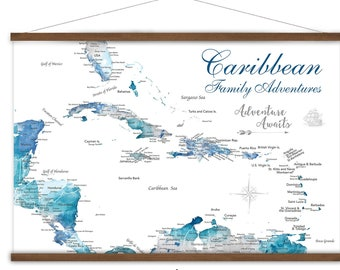 Martinique Antilles Illustrated Caribbean Travel Map with Highlights of West Indies Island Dream