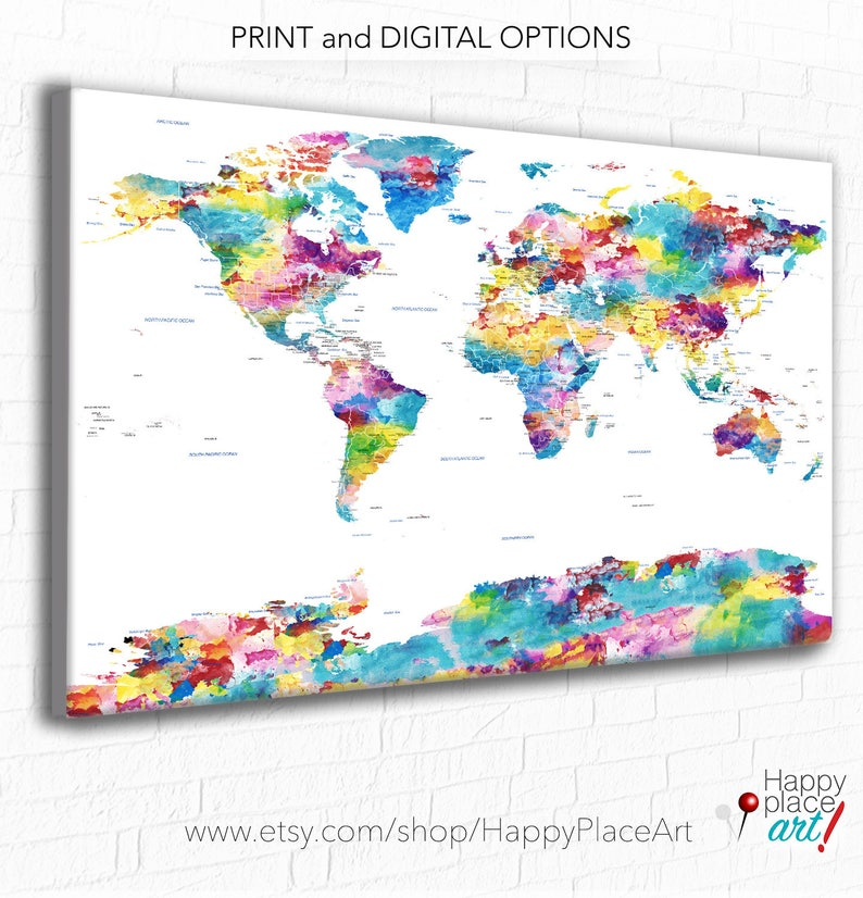 Pastel Watercolor Map, Huge World Map, World Map, Soft Colours, Art on detailed map of usa, sky map of usa, fun map of usa, black and white map of usa, golden map of usa, hand drawn map of usa, functional map of usa, food map of usa, illustration map of usa, formal map of usa, colorful rainbow fish, sunrise map of usa, water map of usa, contemporary map of usa, small map of usa, travel map of usa, active map of usa, beach map of usa, decorative map of usa, original map of usa,