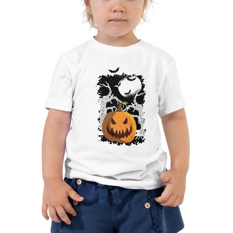 Halloween Ijs.Toddler Scary Halloween Pumpkin T Shirt