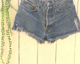20f6742d Vintage levis jeans / blue jean Levis / Levis 501 / cut off shorts / denim  jean high waist shorts size 34x32