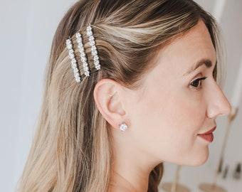 Crystal Bridal Bobby Pin, Silver Wedding Bobby Pin, Crystal Wedding Bobby Pin, Silver Bridal Bobby Pin, Wedding Hair Pin, Bridal Hair~2857
