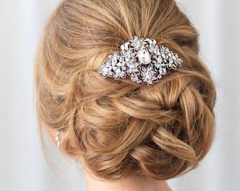 Vintage Bridal Comb, Rhinestone Bridal Hair Comb, Rhinestone Hair Comb, Wedding Hair Comb, Hair Combs for Wedding, Bridal Headpiece ~TC-2241