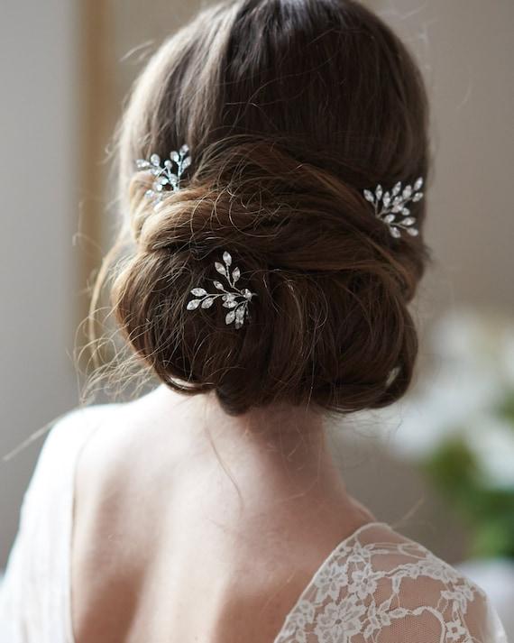 Bridal Hair Pin Wedding Hair Pin Crystal Bridal Hair Pin Wedding Hair Accessory Bridal Hair Accessory ~ TP-2841 Crystal Hair Pin
