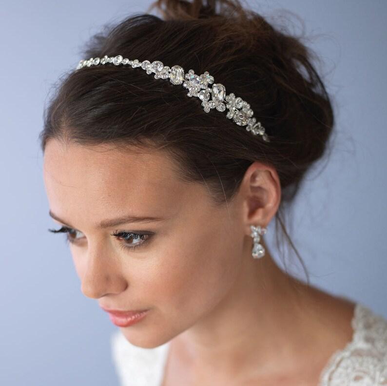 Vintage Wedding Headband Rhinestone Bridal Headband Bridal image 0