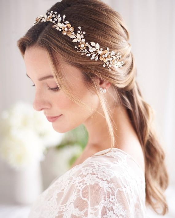 Winged Statement bridal headpiece Tiara Bridal hair accessories Statement Headpiece bridal hair vine.