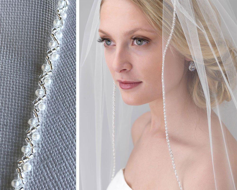 Pearl Bridal Veil Pearl & Beaded Wedding Veil Beaded Veil | Etsy