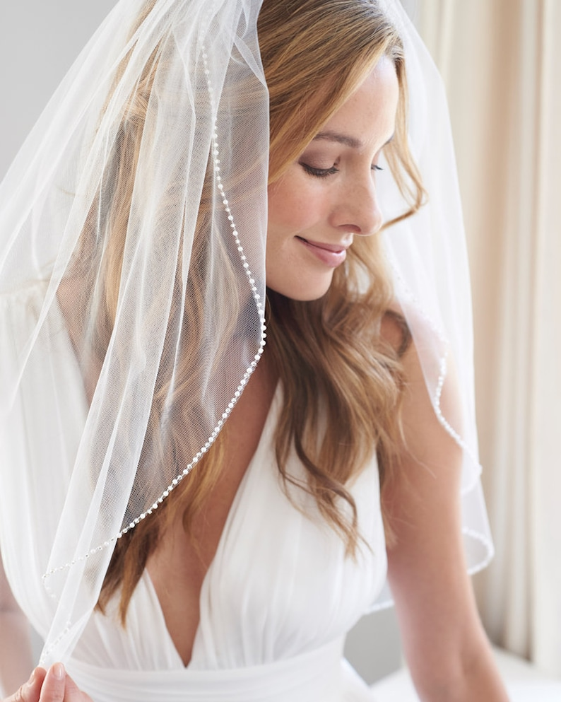 Cathedral Wedding Veil Pearl & Crystal Bridal Veil Crystal image 7
