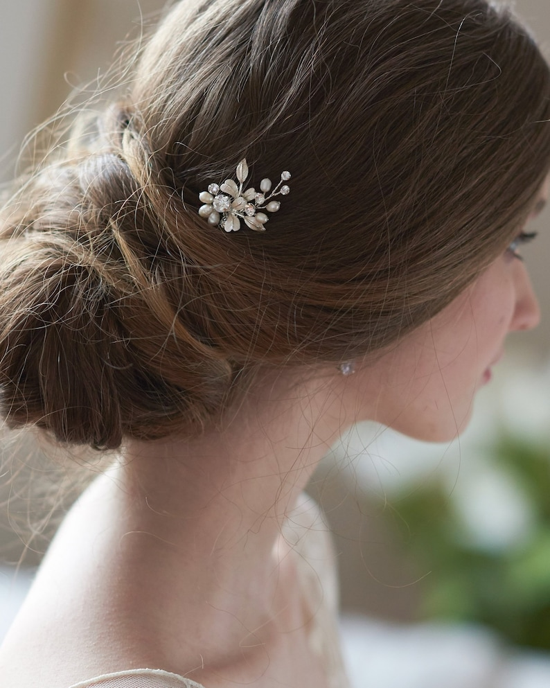 Freshwater Pearl Hair Pin Bridal Hair Pin Wedding Hair Pin Single