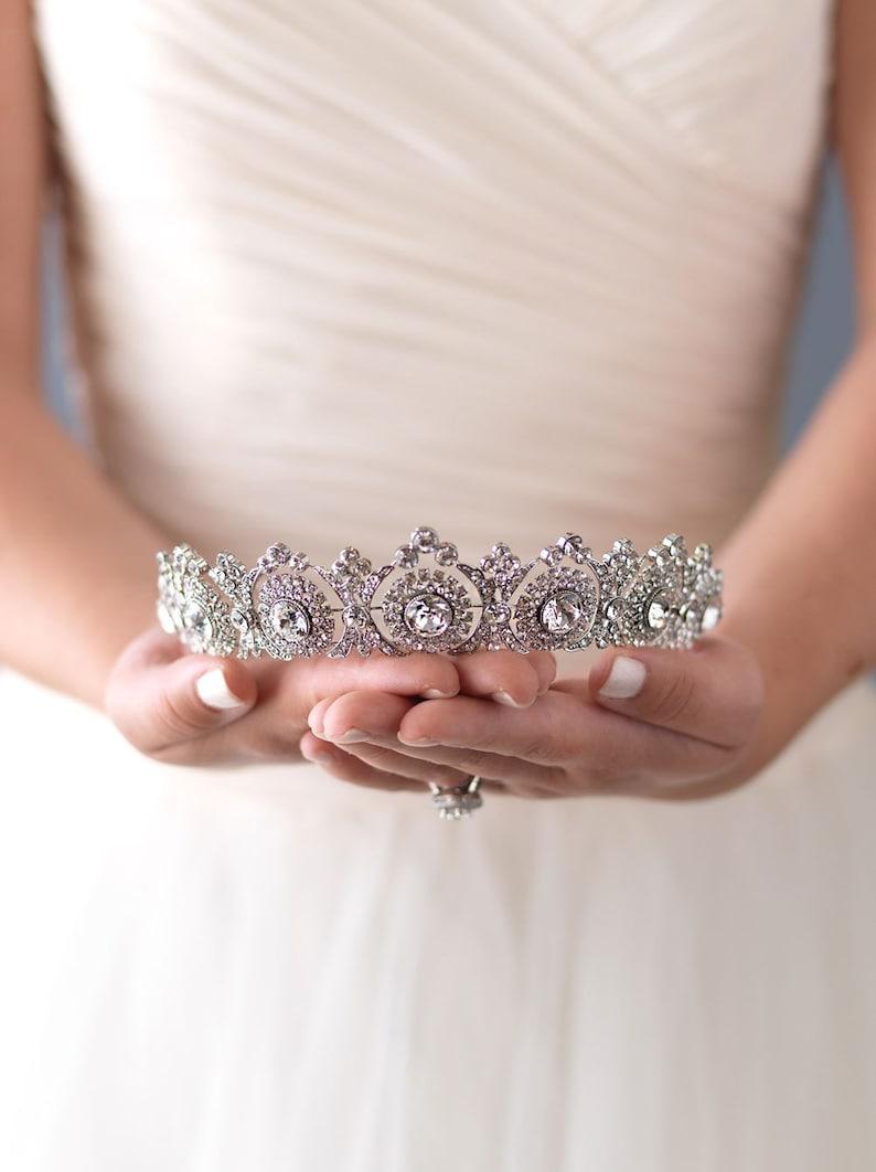 Vintage Bridal Tiara Bridal Hair Accessory Royal Bridal image 0