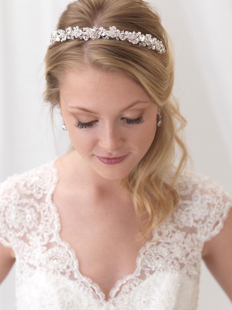 Crystal Bridal Headband Swarovski Crystal Wedding Headband image 0