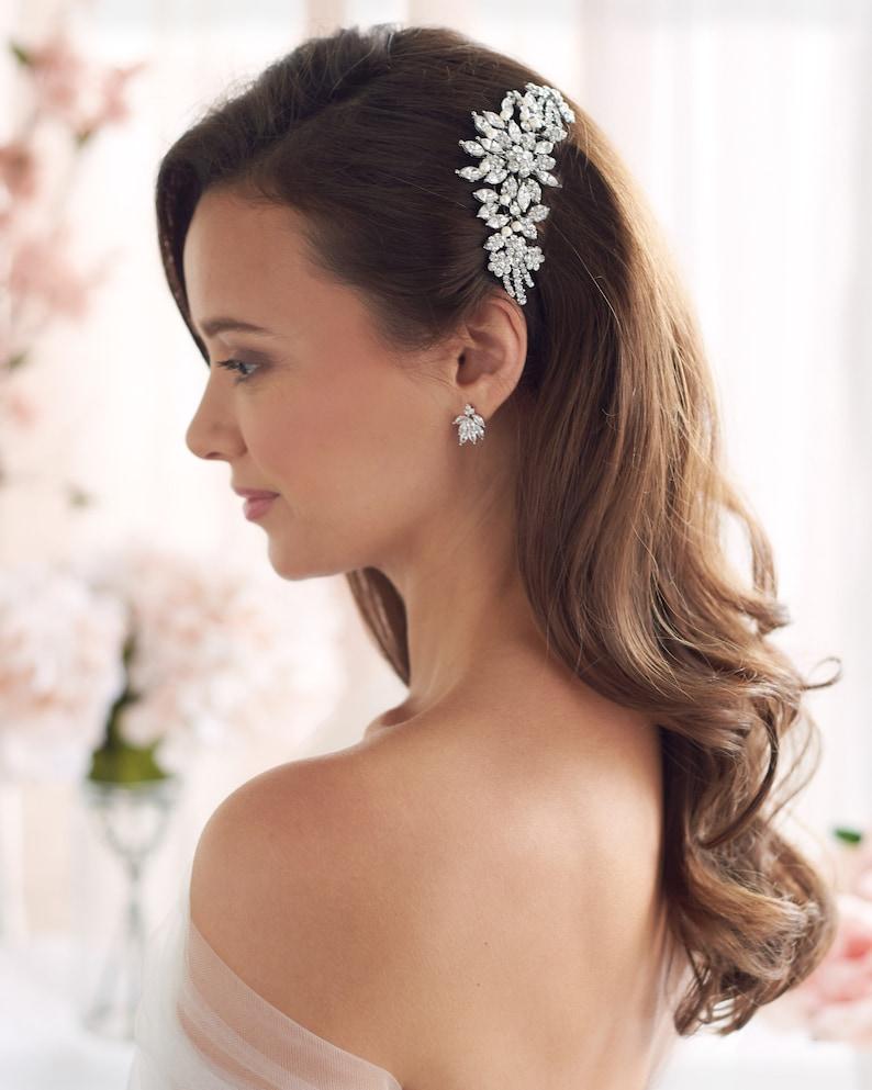 Pearl Bridal Hair Comb Vintage Bridal Hair Comb Wedding Hair Silver