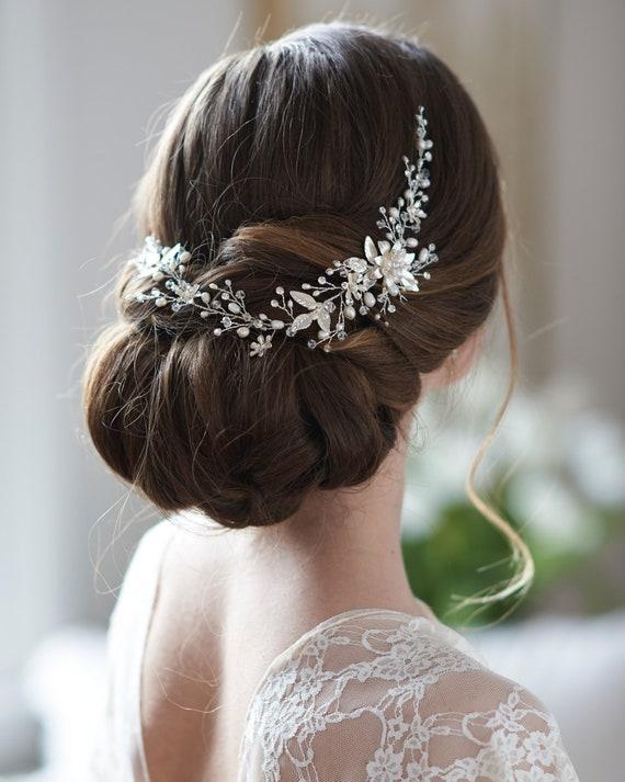 gold leaf hair vine for bridesmaid Armenian weddings bridal hair piece crystal Crystal leaf hair vine wedding hair vine gold crystal