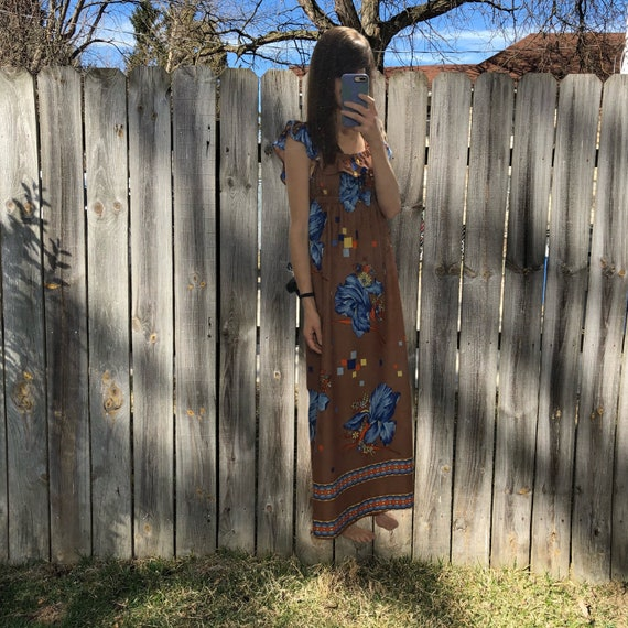 1970s vintage and handmade psychedelic print maxi… - image 5