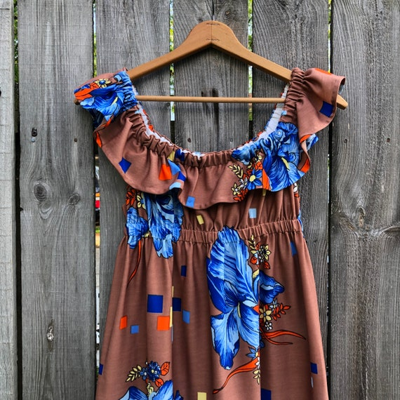 1970s vintage and handmade psychedelic print maxi… - image 2