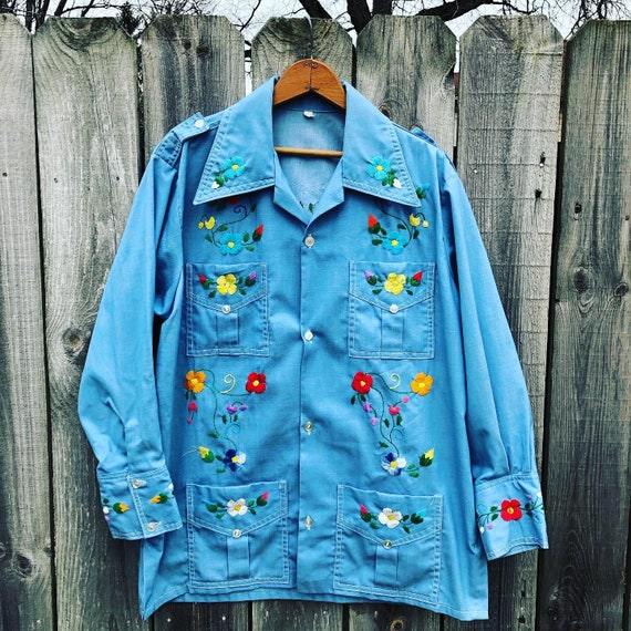 All over embroidered hippie shirt/smock unisex