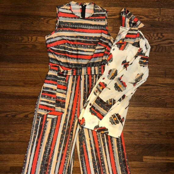 Vintage jumpsuit with matching blouse, Toni Todd