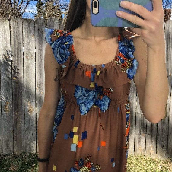 1970s vintage and handmade psychedelic print maxi… - image 8
