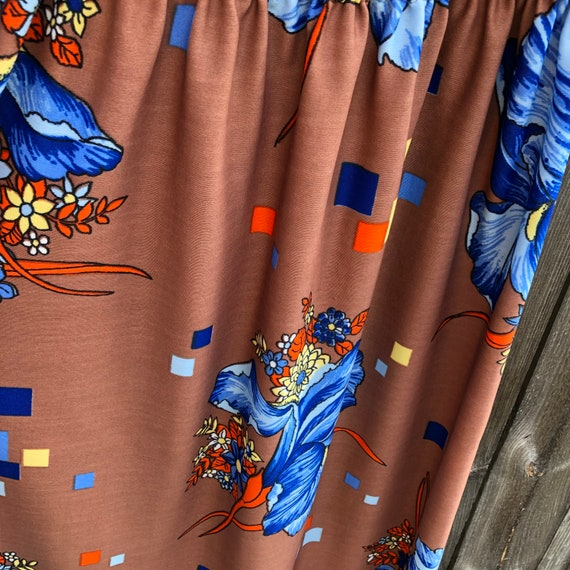 1970s vintage and handmade psychedelic print maxi… - image 7